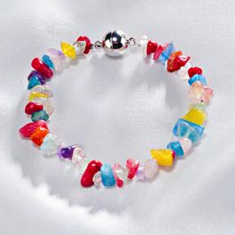 Bracelet en éclats, multicolore