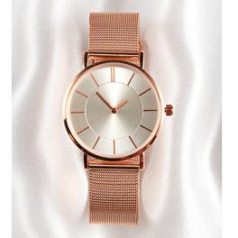 Bracelet-montre dame, coloris or rose