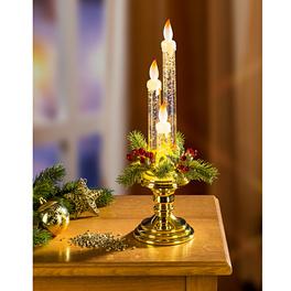 Chandelier avec bougies à LED, coloris or