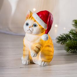 Chaton Noël à LED