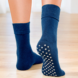 Chaussettes antidérapantes, bleu foncé