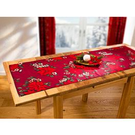 Chemin de table Poinsettia rouge, 40x90 cm