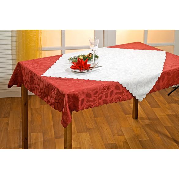 Chemin de table Roses 40x140, bordeaux