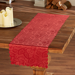 Chemin de table Roses 40x140, bordeaux