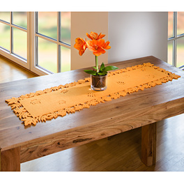Chemin de table motif feuilles