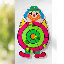 Cible et balles auto-agrippantes Clown