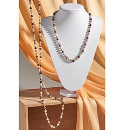 Collier de perles fantaisie 60 cm