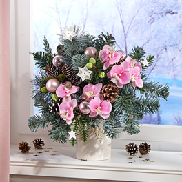 Composition d'orchidées, rose