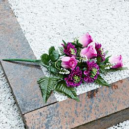 Composition mortuaire Roses et Gerbera
