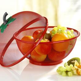 Corbeille à fruits, rouge