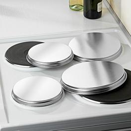 Couvercles pour plaques de cuisson, chrome