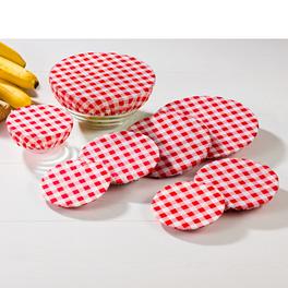 Couvre-plats, rouge blanc à carreaux