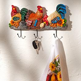Crochet mural Coqs
