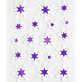 Déco de fenêtre 18étoiles, blanc violet