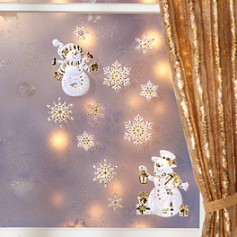 Déco de fenêtre « Bonhommes de neige »,