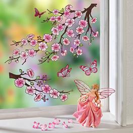 Déco de fenêtre Fleurs de cerisier
