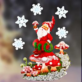 Décor de fenêtre Nain de Noël