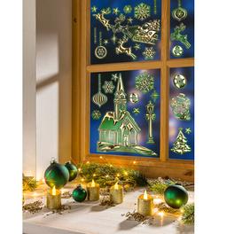 Décoration de fenêtre coloris or