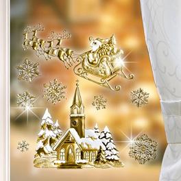 Décoration de fenêtre Église, coloris or