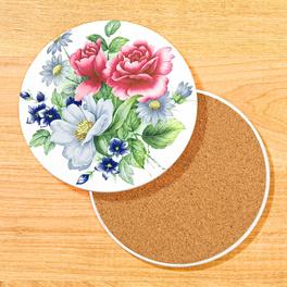 Dessous de plat en céramique, Fleurs