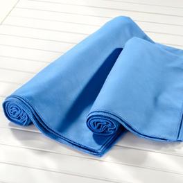 Drap de bain en microfibre, bleu