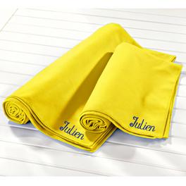 Drap de bain perso. en microfibre, jaune