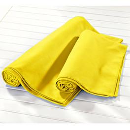 Drap de baine en microfibre, jaune