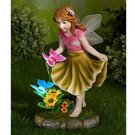 Elfe avec papillons lumineux