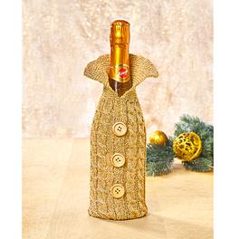 Emballage cadeau pour bouteille, or