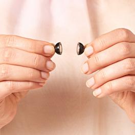 Fermoir aimanté perle, noir