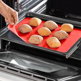 Feuille de cuisson en silicone, rouge