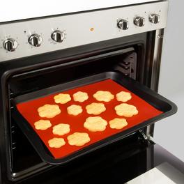 Feuille de cuisson réutilisable en Téflon, rouge