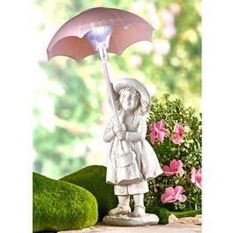 Fillette solaire avec ombrelle