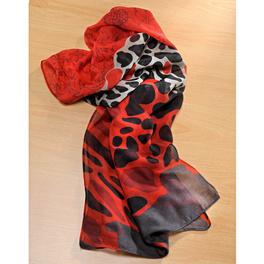 Foulard rouge-noir-argent