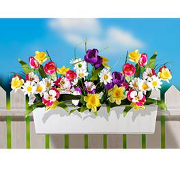 Garnissage de jardinière, Fleurs de printemps