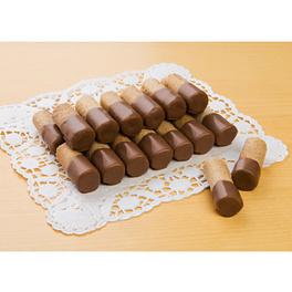 Gaufrettes roulées, chocolat au lait