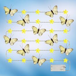 Guirlande de lumières Papillons, jaune