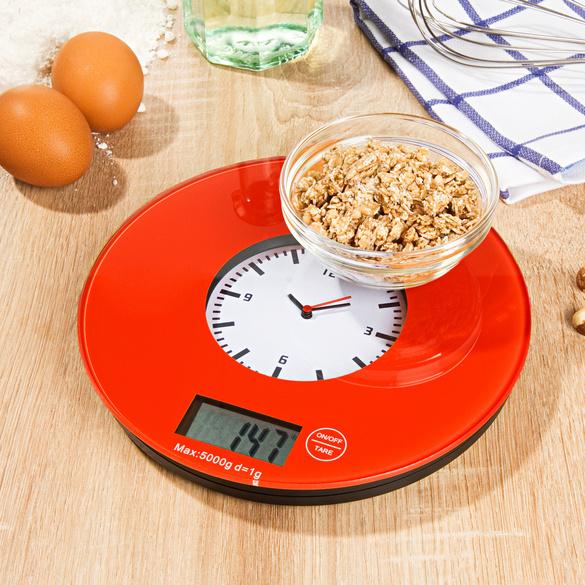 Horloge de cuisine + balance, 2en1