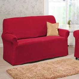 Housse de canapé 2 places, rouge