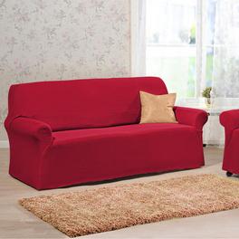 Housse de canapé 3 places, rouge
