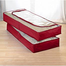 Housse dessous de lit antimite, rouge