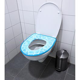 Housse pour lunette de WC, bleu