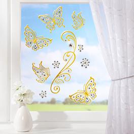 Images pour fenêtres Papillons coloris or