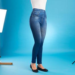 Jegging slim en jean,bleu