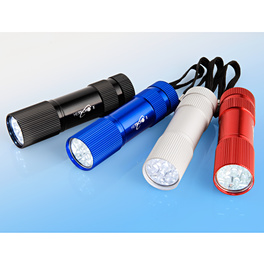 Lampe de poche à LED en aluminium