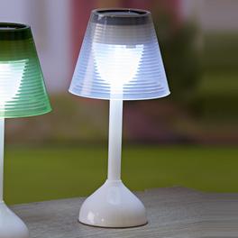 Lampe de table solaire, blanc