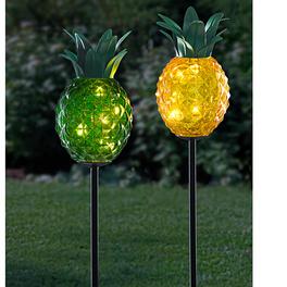 Lampe solaire Ananas, jaune