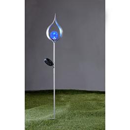 Lampe solaire design Flamme, A-bleu