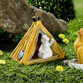 Lapin avec tente solaire