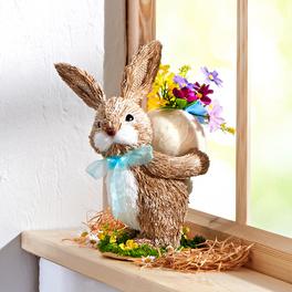 Lapin avec œuf et fleurs